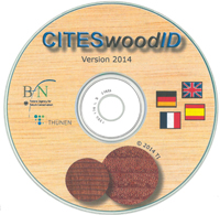 The picture shows the cover of the CD CITESwoodID.