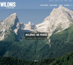 "Screenshot ""www.wildnis-in-deutschland.de"