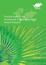 "Titelseite des Handbuchs ""Practical Guide for the development of biodiversity-based tourism products"" der UNWTO"