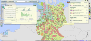 Interactive online map of protected areas in Germany